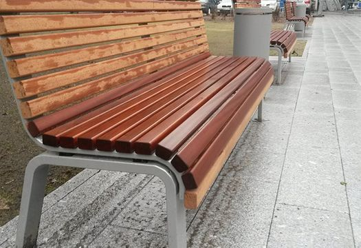 Installation of benches, garbage bins and bicycle racks
